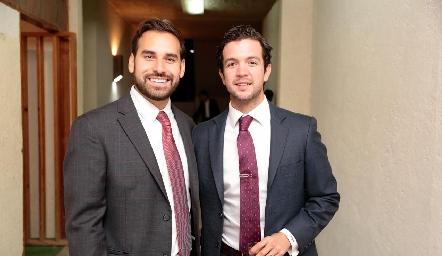 Jaime Alvarado y Daniel Granados.