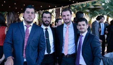 Toro Gómez, José Luis Hernández, Jorge Gómez y Oscar Cabrera.