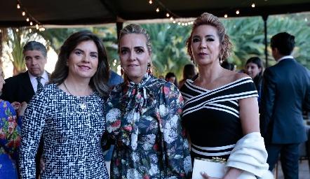 Marisa Mercado, Mimí Hinojosa e Isabel Carrillo.