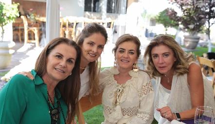 Raquel Eichelmann, María José López, Adriana Carrera y Ana Meade.
