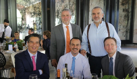César Ramos, Oscar Vera, Mariano González, Rafael Piñero y Federico García.