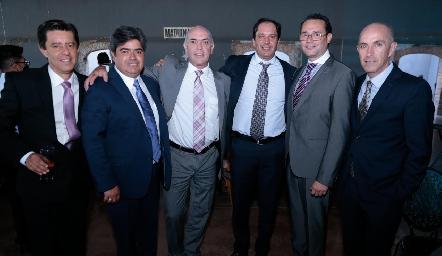 Andrés Martínez, Francisco Leos, Caly Hinojosa, Jorge Morales, Xavier Nava y Juan Carlos Nieto.