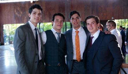 Oscar Vera, Gianfranco Pizzuto, Andrés Quintero y Juan Pablo Mendizábal.