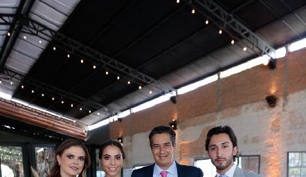 Ceci Ponce, Mariana Anaya, César Ramos y Sebastián Ramírez.