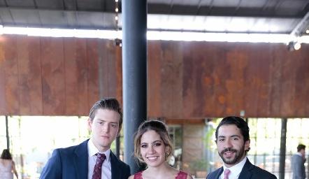 Patricio del Pozo, Mariana Salinas y Carlos Salinas.
