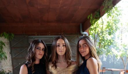Yanina Caso, Sofía del Olmo y Andrea Greenham.