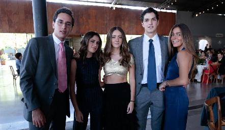 Juan Pablo Chevaile, Yanina Caso, Sofía del Olmo, Oscar Vera y Andrea Greenham.