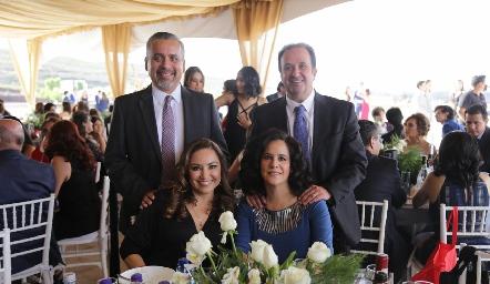 Mauricio Castañeda, Héctor Hinojosa, Angélica Pardiñas y Marcela del Peral.