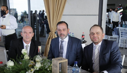 Gerardo Del Valle, Eduardo Zepeda y Saad Sarquis.