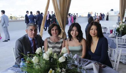 Raúl Zamorano, Irene Serrano, Mayumi Morales y Yuko Hata.