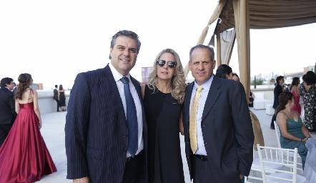 Salomón Dip, Verónica Verrón y Ramón Gómez.