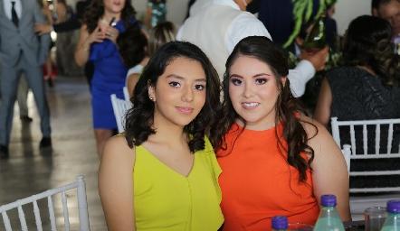 Montse y Valeria Betancourt.