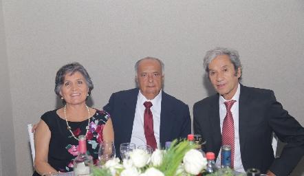 Rosy Padilla, Miguel Ángel Herrera y Andrés Mares.