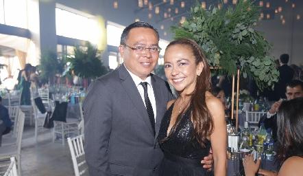 Erick Muñoz y Marcela Ramírez.