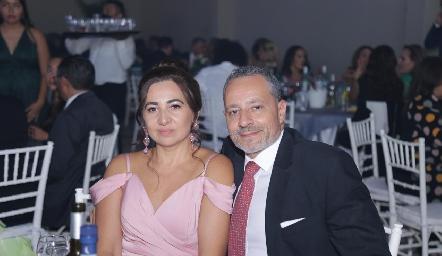 Alejandra Rangel y José Enrique Mendoza.