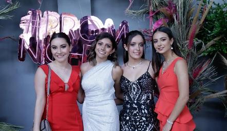 Caro Varela, Sofía Esparza, Caro y Marisol Corripio.