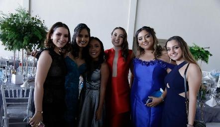 Montse, Esme, Alejandra, Jime, Jime y Vale.