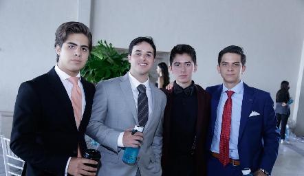 Salo Leija, Adrián Hinojosa, Gabo Vallejo y José Eduardo Villalobos.