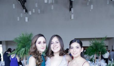 Maca Pérez, Neli Gámez y Luz Olvera.