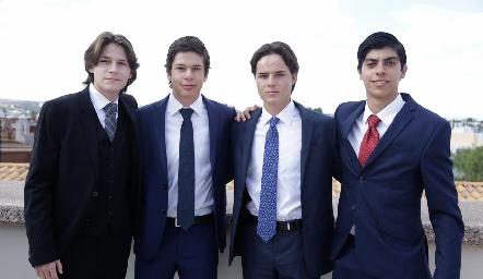 Eduardo Martínez, Juan Lucas, Tomás Santiago y José Costa.