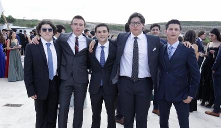 Javier, Diego, Antonio, Gabriel y Jero.