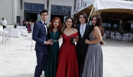 Jaime Ruíz, Isa, Fernanda, Jesús y Samantha.