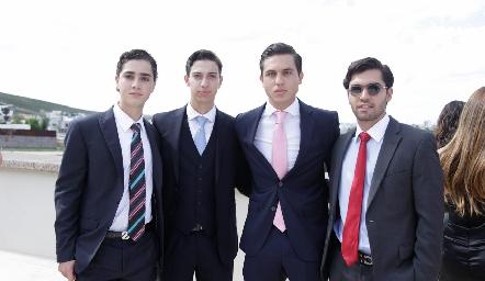 Eduardo Zendejas, Juan Pablo Dip, Andrés Zepeda y Diego Zepeda.