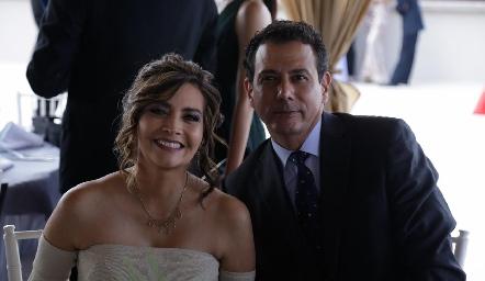 Nuria Arteaga y Arnoldo Hernández.