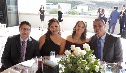 Enrique Rodríguez, Cinthia Faz, María Centeno y Alfredo Vera.