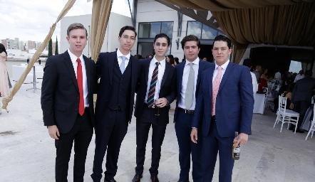 Nacho MA, Juan Pablo Dip, Eduardo Zendejas, Saad Sarquis y Tanos Hernández.