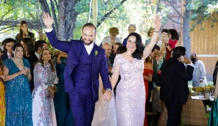 Armando Cosío con su mamá Lourdes Díaz.