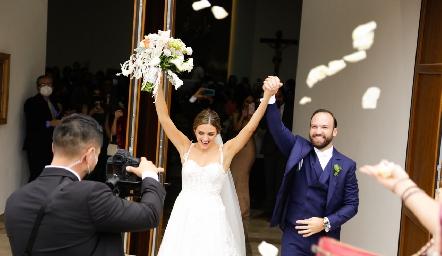 Paola Torre y Armando Cosío ya son esposos.