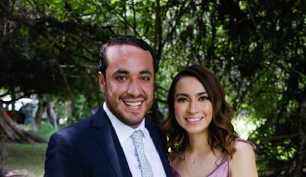 Memo Rivera y Claudia Rocha.