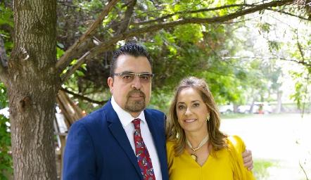 Javier Gómez y Patricia Gaviño.