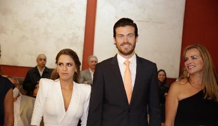 Pau Aguirre, Roberto y Patricia Lozano.