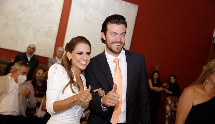 Paulina Aguirre Altamirano y Roberto Lozano del Bosque ya son esposos.