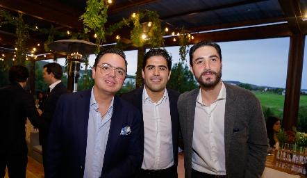 Toño Guzmán, Mauricio Motilla y Roberto Zollino.