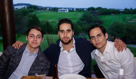 Pato Altamirano, Diego Rodríguez y Rodrigo Altamirano.