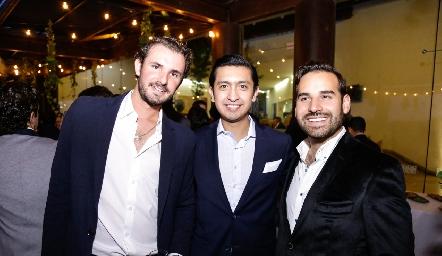 Jorge Gómez, Rafa Villanueva y Jaime Alvarado.