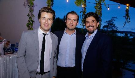 Gastón Lozano, Miguel Gómez y Marcelo Lozano.