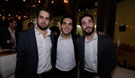 Juan Manuel Carreras, Mauricio Tobías y Roberto Zollino.