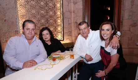 Pepe, Maricarmen, Arturo Estrada e Ylenia Rodríguez.