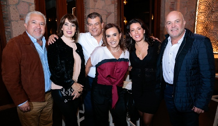 Guillermo Báez, Beatriz Canseco, Arturo Estrada, Ylenia Rodríguez, Cristina Puga y Guillermo Pizzuto.