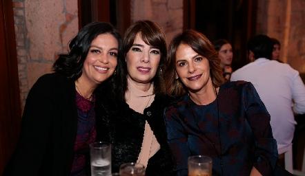 Ale Martínez, Beatriz Canseco y Vero Malo.