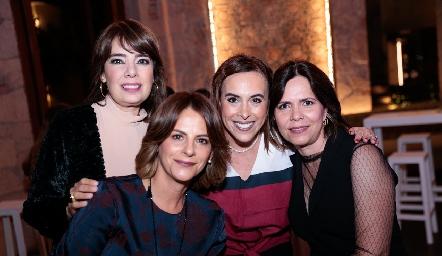 Beatriz Canseco, Vero Malo, Ylenia Rodríguez y Alejandra Martínez.