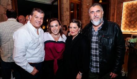 Arturo Estrada, Ylenia Rodríguez, Mariana Millán y Picho Páramo.