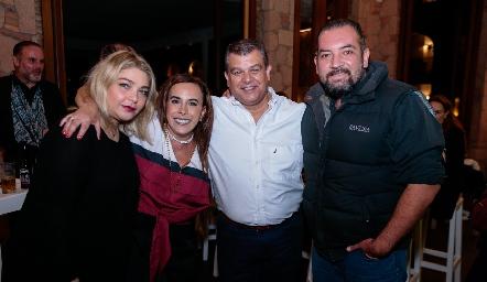 Jade Leija, Ylenia Rodríguez, Arturo Estrada y Gabriel Navarro.