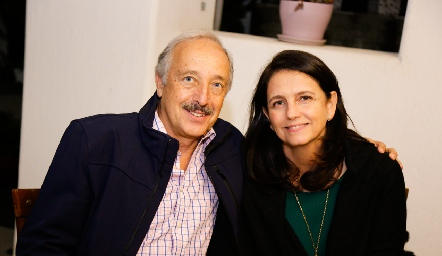 Federico Díaz Infante y Gabriela Meade.