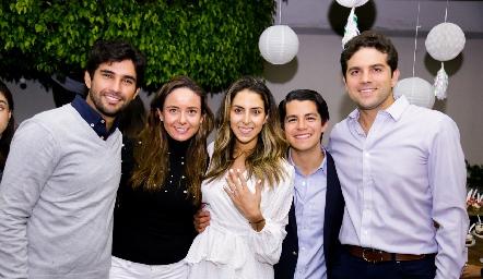 José Luis Leiva, Ana Gaby Díaz Infante, Regina Oliva, Arturo Hernández y Fico Díaz Infante.