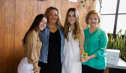 Fer Orozco, María Calvillo, María Orozco y Maricarmen Hernández.